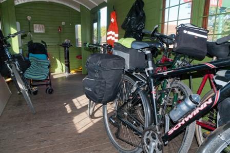 Bikes in guards van